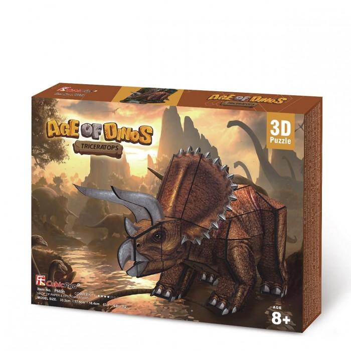 3D Jigsaw Puzzle - Triceratops Dinosaur