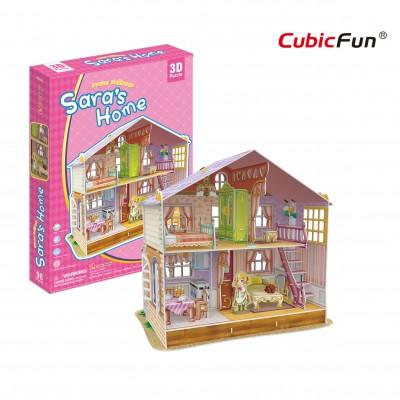 Cubic-Fun-P678h 3D Jigsaw Puzzle - Sara's Home (Difficulty: 4/6)