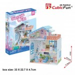 Cubic-Fun-P683h 3D Jigsaw Puzzle - Seaside Village (Difficulty: 4/6)