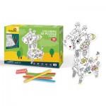 Cubic-Fun-P696h 3D Puzzle - Coloring Giraffe