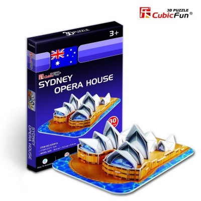 Cubic-Fun-S3001H 3D Mini Series Puzzle- Australia: Sydney Opera House (Difficulty 2/8)
