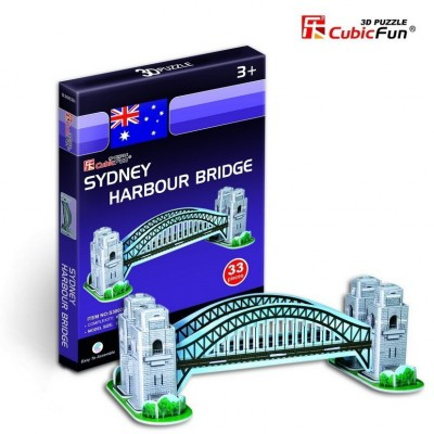 Cubic-Fun-S3002H 3D Mini Series Puzzle- Autralia : Sydney Harbour Bridge (Difficulty : 2/8)