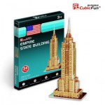 Cubic-Fun-S3003H 3D Mini Series Puzzle- New-York : Empire State Building (Difficulty : 2/8)