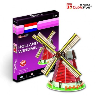 Cubic-Fun-S3005H 3D Mini Series Puzzle- Netherlands Mill (Difficulty 2/8)