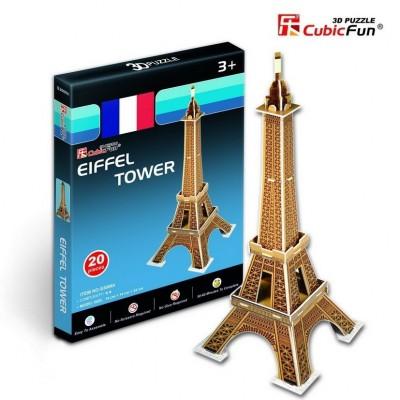 Cubic-Fun-S3006H 3D Mini Series Puzzle- France, Paris: Eiffel Tower (Difficulty 2/8)