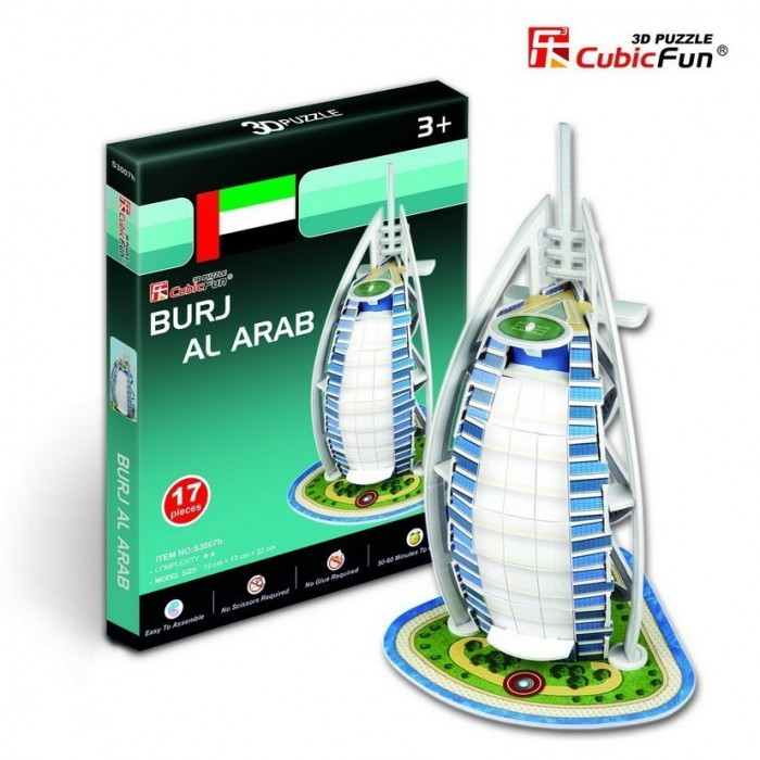 3D Mini Series Puzzle- United Arab Emirates: Burj Al Arab (Difficulty 2/8)