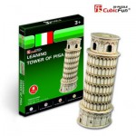 Cubic-Fun-S3008H 3D Mini Series Puzzle- Italy: Tower of Pisa (Difficulty 2/8)