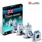 Cubic-Fun-S3010H 3D Mini Series Puzzle- United Kingdom: Tower Bridge in London (Difficulty 2/8)