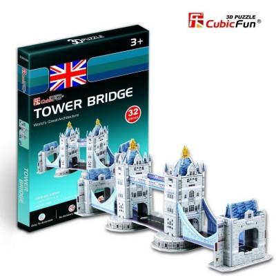 Cubic-Fun-S3010H 3D Mini Series Puzzle- United Kingdom: Tower Bridge in London (Difficulty 2/8)