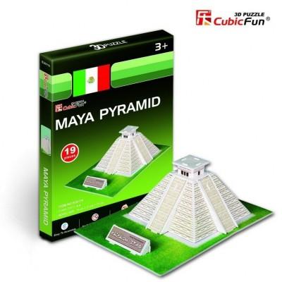 Cubic-Fun-S3011H 3D Mini Series Puzzle- Maya Pyramid (Difficulty 2/8)
