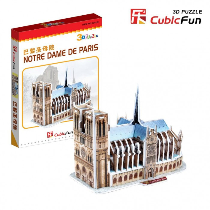 3D Mini Series Puzzle- France, Paris: Our Lady Cathedral (Difficulty 2/8)