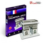 Cubic-Fun-S3014H 3D Mini Series Puzzle- France, Paris: Arc of Triumph (Difficulty 2/8)
