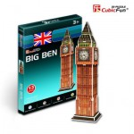 Cubic-Fun-S3015H 3D Mini Series Puzzle- United Kingdom, London: Big Ben (Difficulty 2/8)