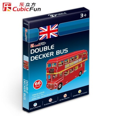 Cubic-Fun-S3018H 3D Mini Series Puzzle- Londoner Bus (Difficulty 2/8)