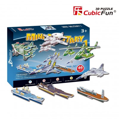 Cubic-Fun-S3022H 3D Mini Series Puzzle- Military cars (Difficulty 2/8)