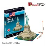 Cubic-Fun-S3026h 3D Puzzle Mini - Statue of Liberty - Difficulty: 2/8