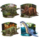 Cubic-Fun-Set-Dinosaur 4 3D Puzzles - Set Dinosaur