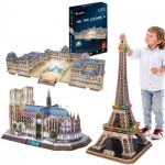 Cubic-Fun-Set-Paris 3 3D Jigsaw Puzzles - Paris