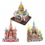 Cubic-Fun-Set-Russian 3 3D Jigsaw Puzzles - Russian Cathedrals