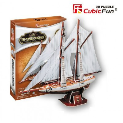 Cubic-Fun-T4007H 3D Puzzle - Two-Masted Schooner