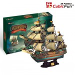 Cubic-Fun-T4017H 3D Puzzle - The Spanish Armada-San Felipe - Difficulty : 8/8