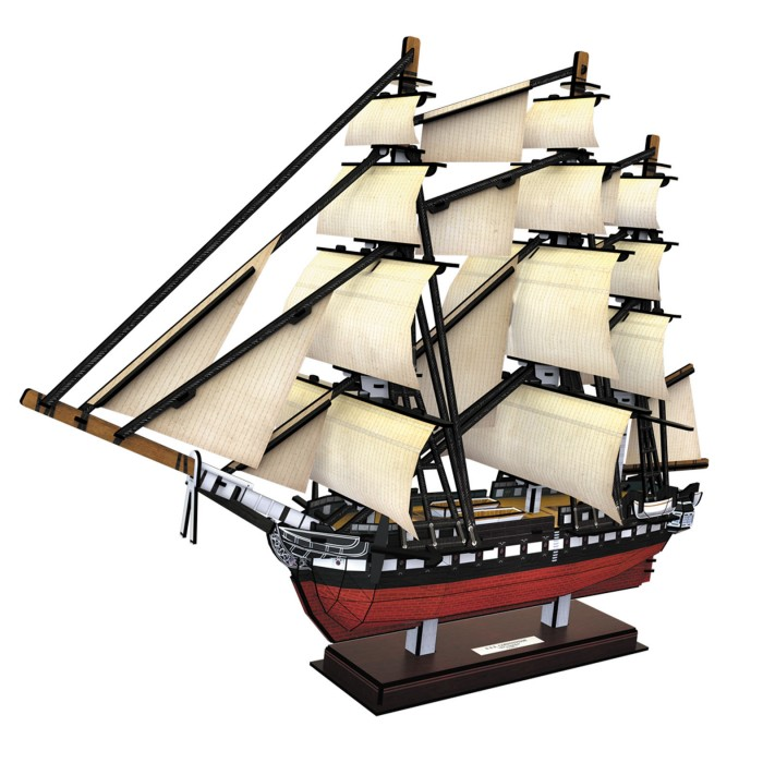3D Jigsaw Puzzle - USS Constitution (Difficulty: 5/6)
