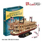 Cubic-Fun-T4026h 3D Puzzle - Mississippi Steamboat - Difficulty: 5/8
