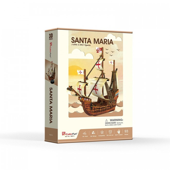 3D Puzzle - Santa Maria - Difficulty: 4/6