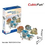 Cubic-Fun-W3187h 3D Puzzle - 3D World Style - France - Difficulty: 4/6