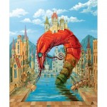 Wooden Puzzle - Red Prawn