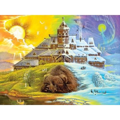 HCM-Kinzel-69113 Wooden Puzzle - The Sleeping Bear