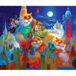HCM-Kinzel-69117 Wooden Puzzle - Full Moon Festival