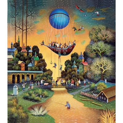 HCM-Kinzel-69121 Wooden Puzzle - Journey in the Sky