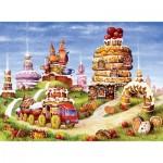 HCM-Kinzel-69127 Wooden Jigsaw Puzzle - Cake Mountain