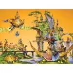 HCM-Kinzel-69128 Wooden Puzzle - A Cat's Dream