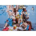 HCM-Kinzel-69132 Wooden Puzzle - Alice Crazy Tea Party
