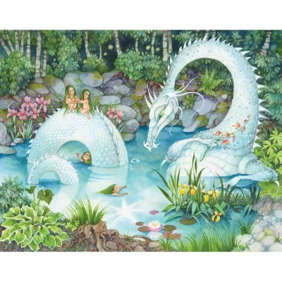 HCM-Kinzel-69139 Wooden Jigsaw Puzzle - A Dragon in the Woods