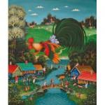 HCM-Kinzel-69141 Wooden Jigsaw Puzzle - Good Morning