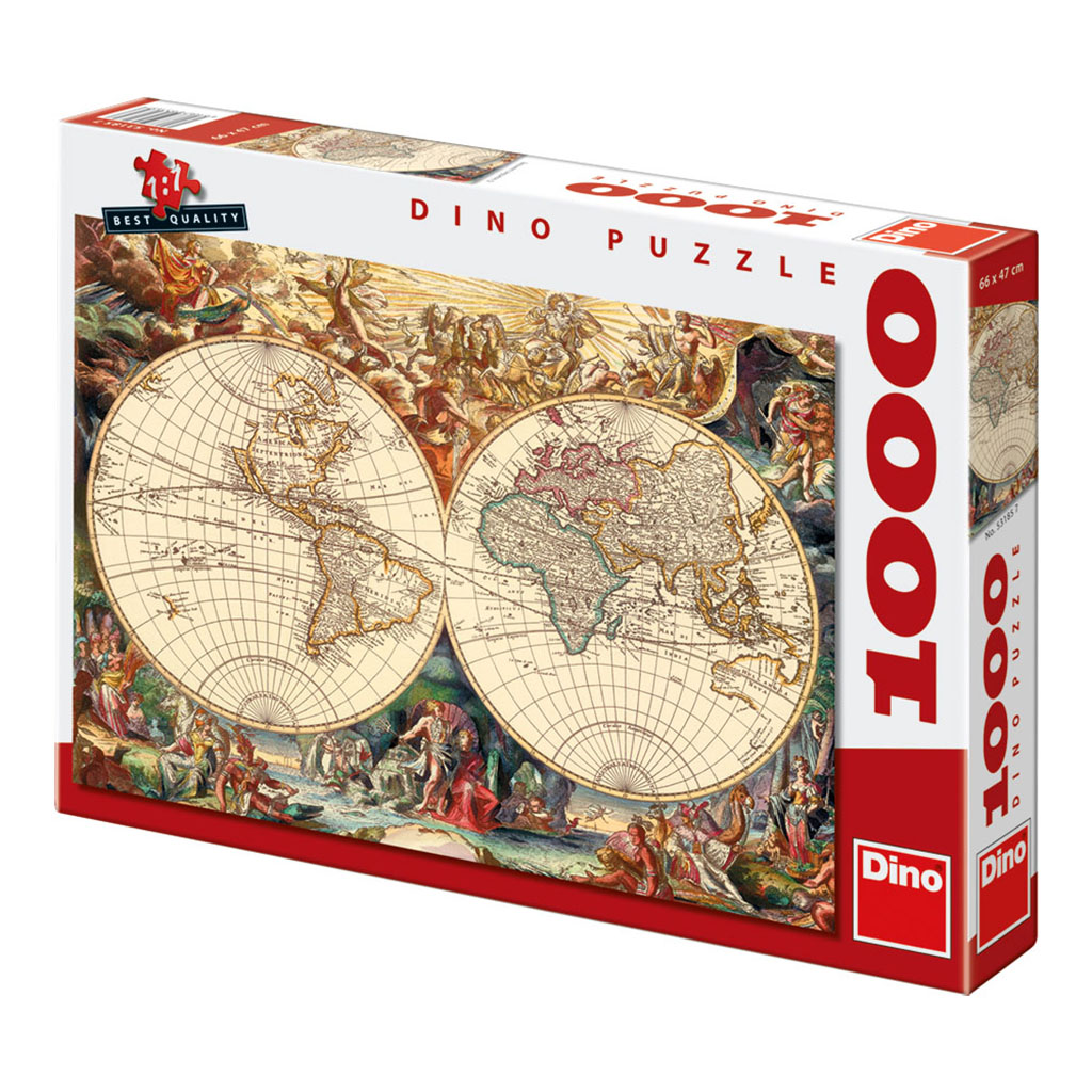 Puzzle antique world map dino 53185 1000 pieces jigsaw puzzles antique world map antique world map gumiabroncs Choice Image