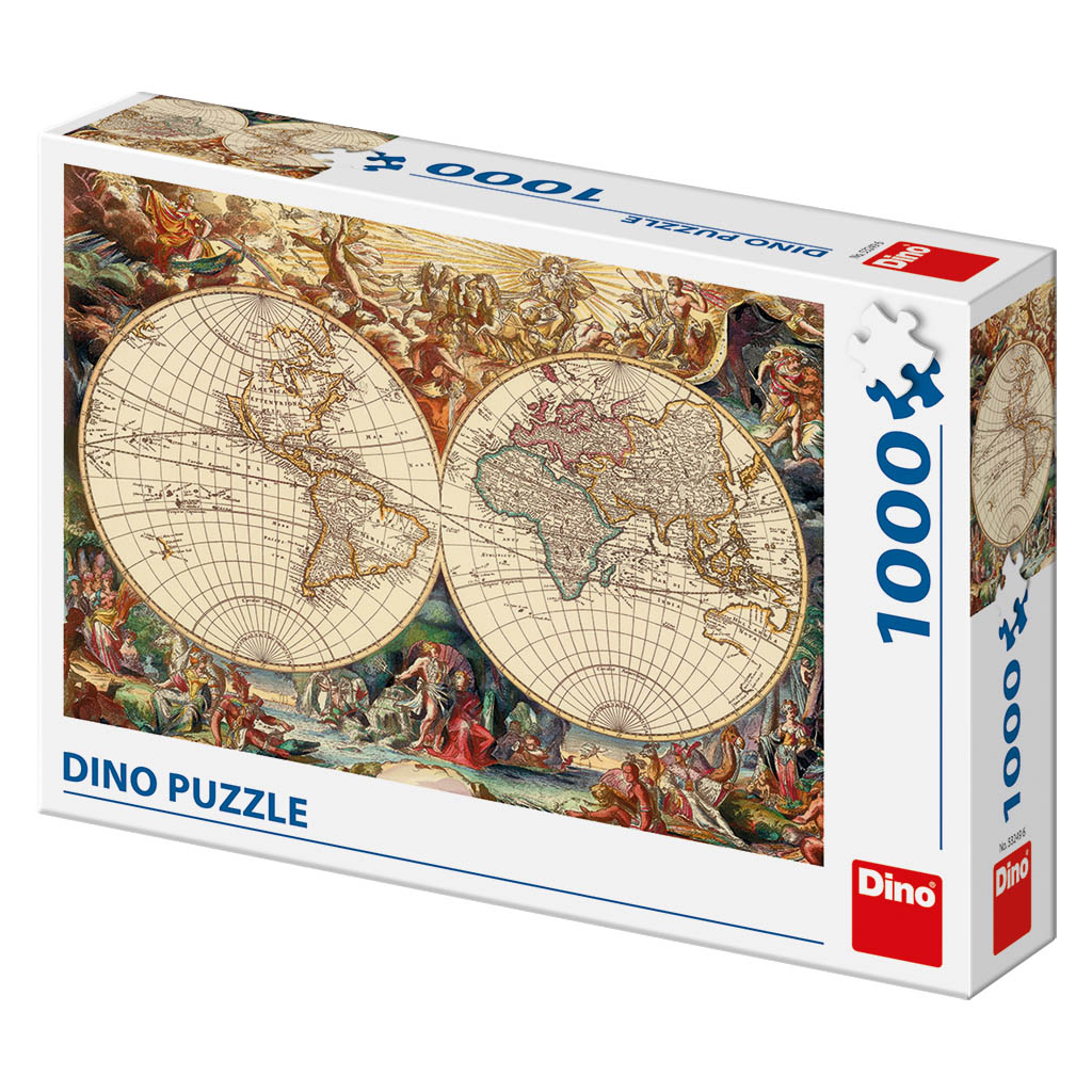 Antique World Map Puzzle.Puzzle Antique World Map Dino 53249 1000 Pieces Jigsaw Puzzles
