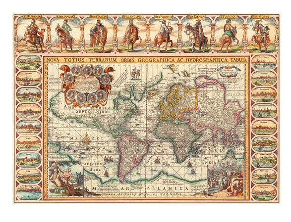 Puzzle antique world map dino 56106 2000 pieces jigsaw puzzles antique world map gumiabroncs Gallery