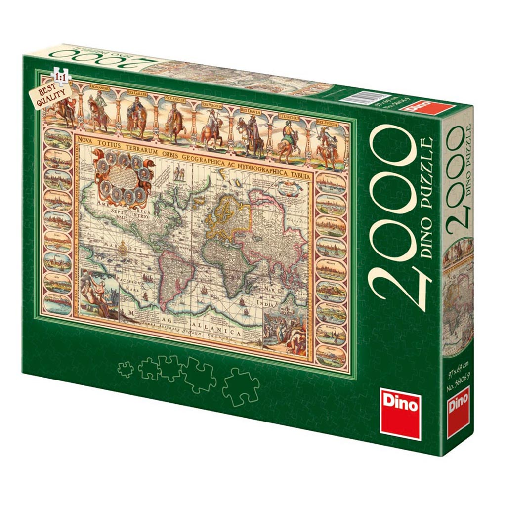Puzzle antique world map dino 56106 2000 pieces jigsaw puzzles antique world map antique world map gumiabroncs