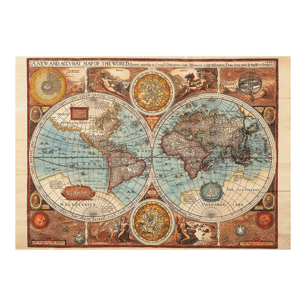 Puzzle antique world map dino 50208 500 pieces jigsaw puzzles antique world map gumiabroncs Image collections