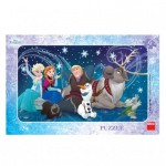 Dino-30129 Frame Jigsaw Puzzle - Frozen