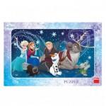 Dino-301290 Frame Jigsaw Puzzle - Frozen