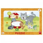 Dino-30131 Frame Puzzle - Cats