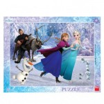 Dino-32217 Frame Puzzle - Frozen
