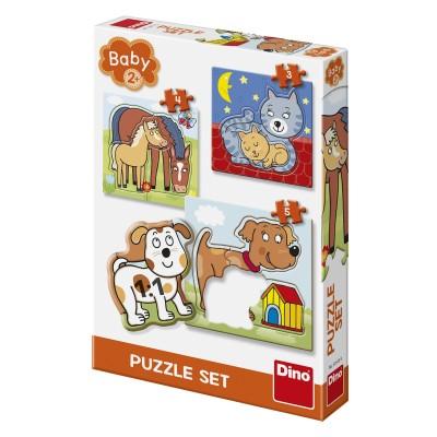 Dino-32512 3 Puzzles - Animals