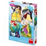 Dino-333185 4 Puzzles - Disney Princess