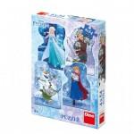 Dino-33319 4 Puzzles - Frozen